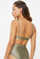 Superbalist - Triangle style bikini top - brown