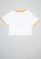 Levi's® - Graphic cropped ringer tee - white