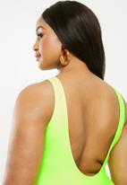Superbalist - Scoop neck onepiece - green