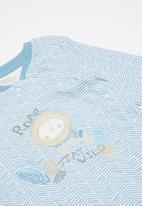 Baby Corner - Baby boys sleepsuit - blue & white