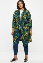 edit Plus - Wide sleeve kimono - multi