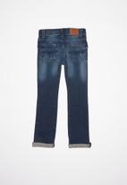 POLO - Boys liam distressed slim fit jean - blue