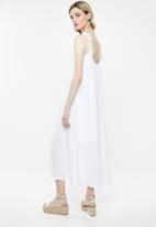 Superbalist - Strappy volume maxi dress - white