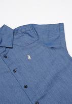 POLO - Kieran chambre shirt - blue