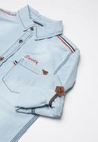 SOVIET - Boys denim shirt - blue