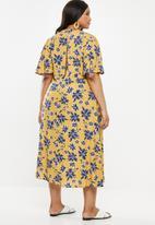 Superbalist - Midi tea dress (plus) - yellow & blue