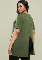 Superbalist - Slit back longer length top - khaki