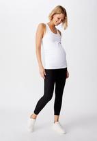 Cotton On - Maternity stripe mesh 7/8 tight - black