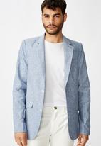 Cotton On - Linen blazer - blue