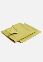 Hertex Fabrics - Seek napkin set of 2 - celery (40x40)