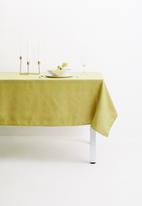 Hertex Fabrics - Seek table cloth - celery (140x180)