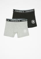 Converse - Chuck core boxer brief 2 pack - black & grey