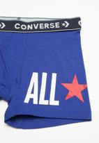 Converse - Chuck core boxer brief 2 pack - blue & red