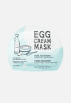 Too Cool For School - Egg cream mask pore tightening set