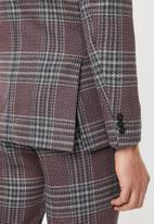 Jack & Jones - Brando check blazer - purple & grey