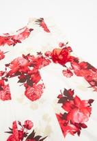 POP CANDY - Floral printed dress - white & red