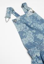 POP CANDY - Denim dungaree dress - blue