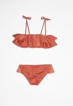 Billabong  - Shine ruffle bikini set - rust