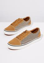 Cotton On - Axell skate sneaker - tan