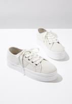 Cotton On - Canvas platform sneaker - grey