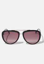Cotton On - Pip aviator sunglasses - black & gold