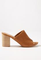 Cotton On - Colette heeled mule - tan