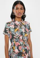 Cherry Melon - Maternity Midi shirt dress - multi