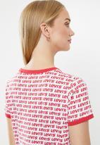 Levi's® - Graphic ringer surf tee - white & red