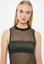 Superbalist - Mesh column dress(reg) - black