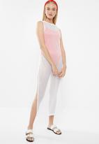 Superbalist - Mesh column dress(reg) - white