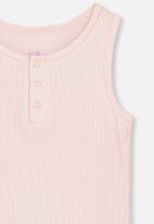 Cotton On - Girls rib tank - pink