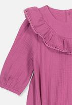 Cotton On - Phoebe long sleeve ruffle bubbysuit - purple