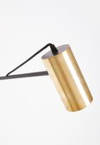 Emerging Creatives - Alberta swing arm lamp - black & brass