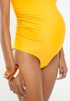 Superbalist - Maternity scoop neck one piece - yellow