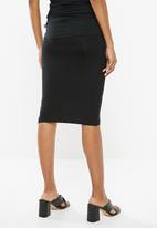 Superbalist - Maternity Tummy bodycon skirt - black