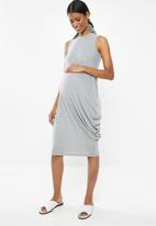 Superbalist - Asymmetrical drape dress - grey