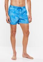 Jack & Jones - Sunset swim shorts - blue