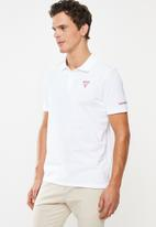 GUESS - Guess classic polo - white