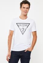 GUESS - Iconic triangle tee - white