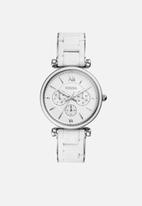 Fossil - Carlie - silver & white