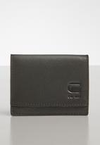 G-Star RAW - Grizzer cc leather wallet - black & brown