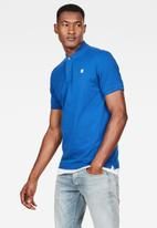 G-Star RAW - Dunda slim short sleeve polo - blue