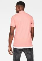 G-Star RAW - Dunda slim short sleeve polo - pink