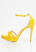 Miss Black - Lerato heels - yellow