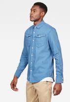 G-Star RAW - Arc 3d slim long sleeve shirt - blue