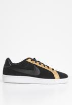 Nike - Court Royale Premium - black-metallic gold-white