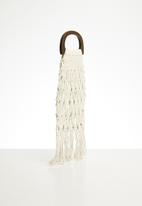 Superbalist - Net bag with wooden handle - white