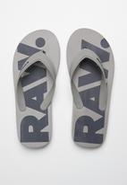 G-Star RAW - Dend flip flop - grey & navy
