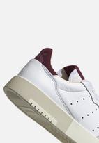 adidas Originals - Supercourt - ftwr white / maroon