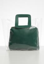 Superbalist - Liz transparent bag - green